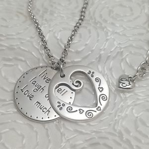 Brighton Silver Heart Necklace Live Well Laugh